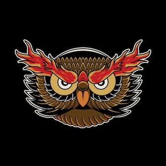 Owl tattoo retro