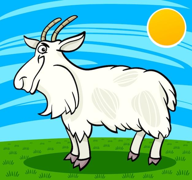 Owłosione kozy ilustracja kreskówka gospodarstwa zwierząt