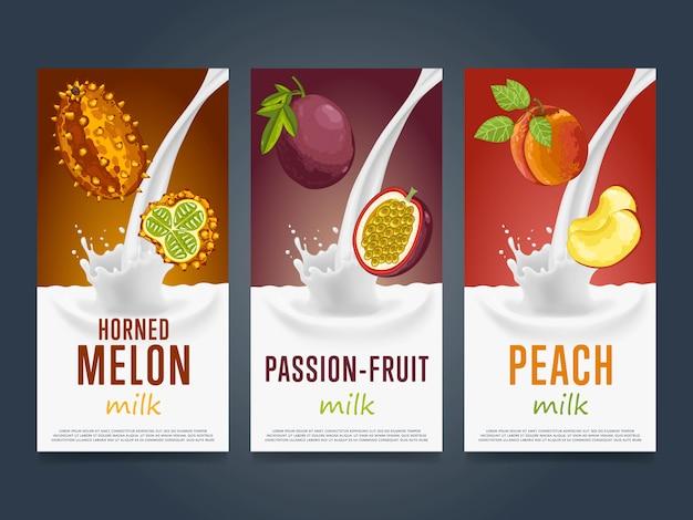 Owoc koktajl mleczny powitalny deser koktajl napój