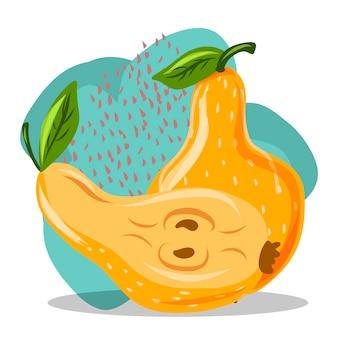 Owoc. Rysunek Odręczny. Gruszka Premium Wektorów