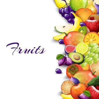 Owoce granicy tło
