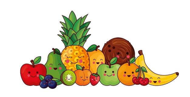 Owoce kawaii