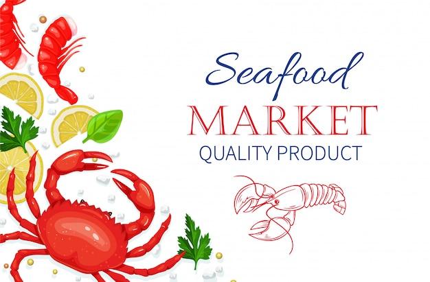 Owoce morza. koncepcja gotowania zdrowej żywności.