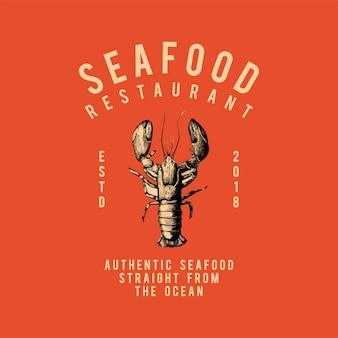Owoce morza restauracja logo wektor
