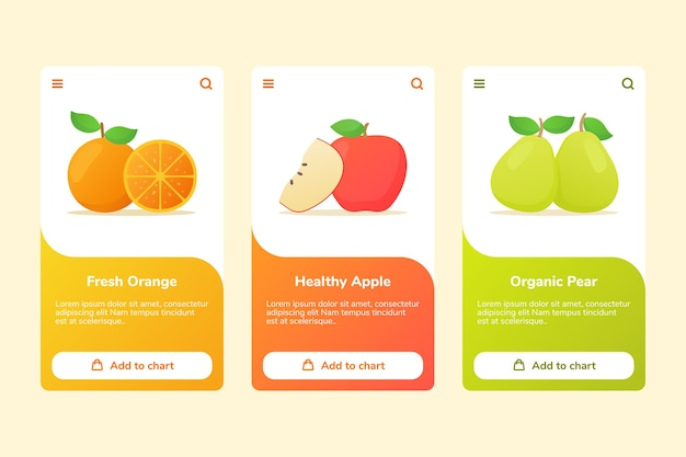 Owoce świeże pomarańczowe zdrowe jabłko gruszka ekologiczna w kampanii pokładowej