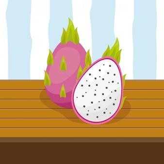 Owoce tropikalne tło