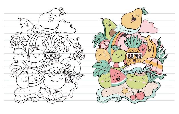 Owoce w lato bazgroły