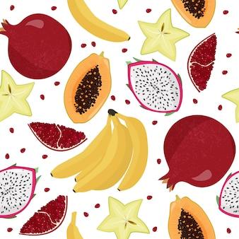 Owoce w tle.
