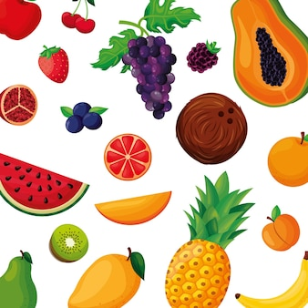 Owoce w tle