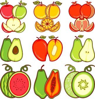 Owoce wektor kromka