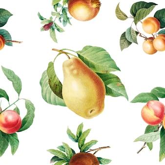 Owoce wzorzyste tle