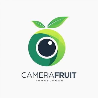 Owocowy aparat fotograficzny zabawy fotografii liść