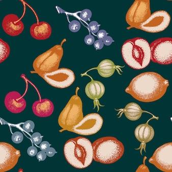 Owocowy bezszwowy wzór