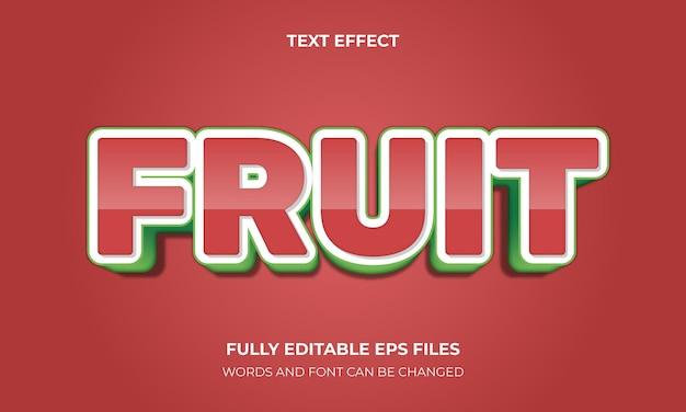 Owocowy efekt tekstowy 3d wektor