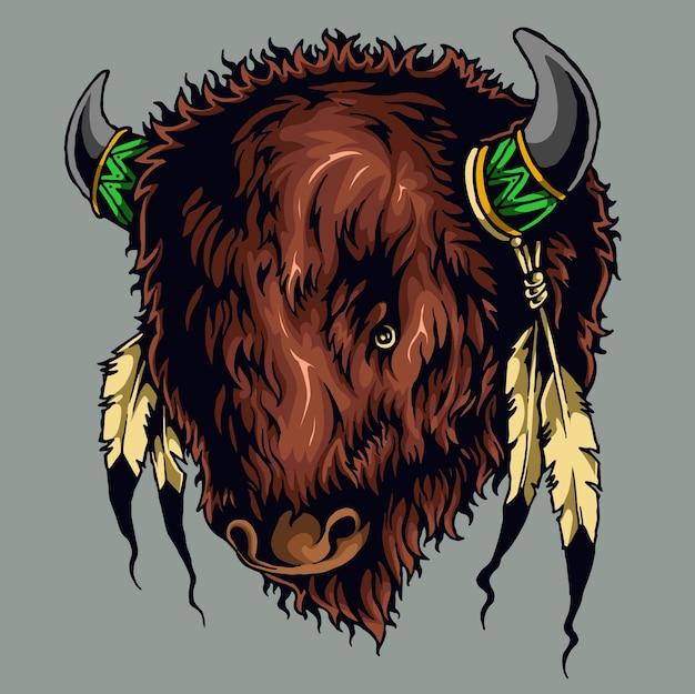Ozdoba byka z dzikiego życia