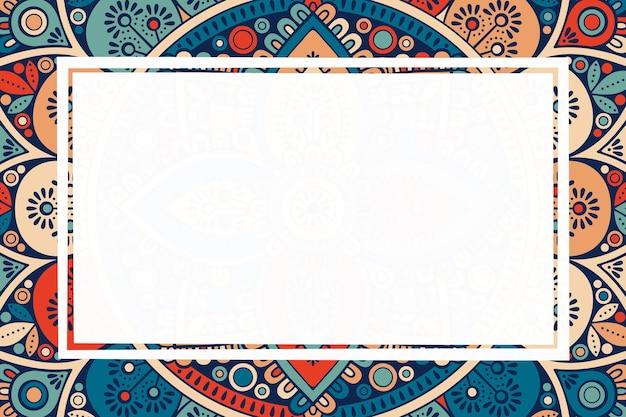 Ozdoba piękne tło. rama geometryczna