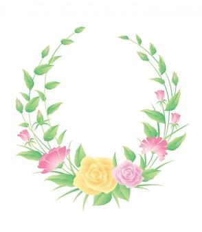 Ozdoba szablon kwiatowy ramki. dobre użycie etykiety, symbolu lub dowolnego projektu, który chcesz.