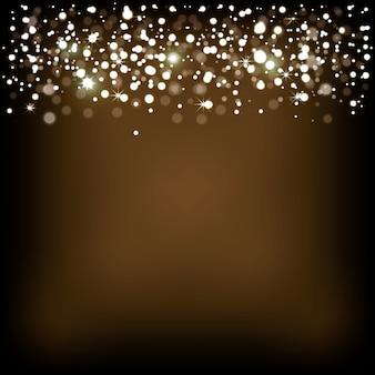 Ozdoba ze złotymi światłami