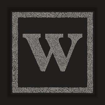 Ozdobna litera w monogram logo alfabet vector