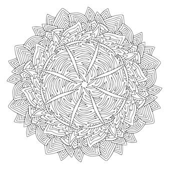Ozdobna mandala. etniczny wzór ornamentu