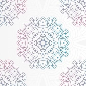 Ozdobna mandala kwiatowy z białym tłem projektowania ilustracji