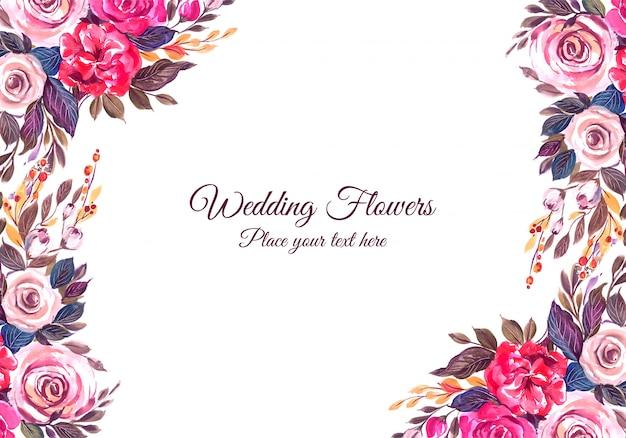 Ozdobna rama kwiatowy wesele