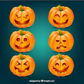 Ozdobne dynie na halloween