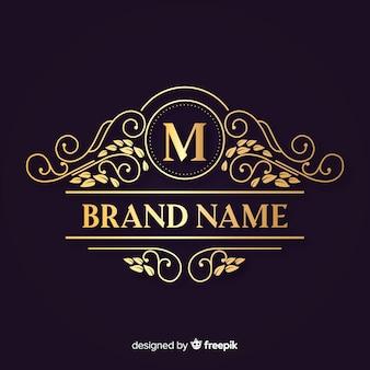 Ozdobne eleganckie logo