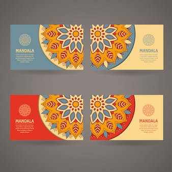 Ozdobne kolorowy szablon wizytówki.