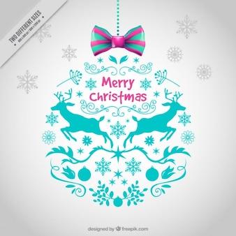 Ozdobne kulki christmas tła z rysunkami