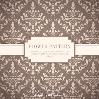 Ozdobne kwiaty wzór