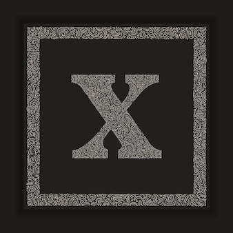 Ozdobne litery x monogram logo alfabetu vector