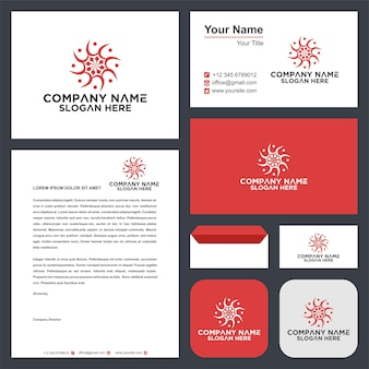 Ozdobne logo i wizytówka premium