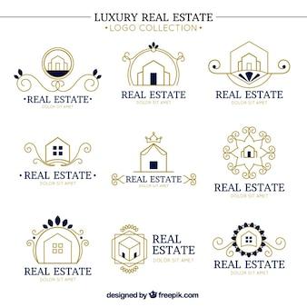 Ozdobne logo luksusowe nieruchomości