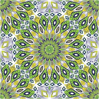 Ozdobne mandali projekt streszczenie tło. wzór z kwiatami