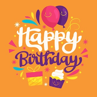 Ozdobne napis urodzinowy