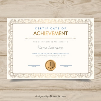 Ozdobne obramowanie certyfikatu w stylu vintage