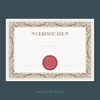 Ozdobne obramowanie certyfikatu