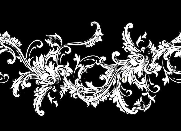 Ozdobne obramowanie, ramka. barokowy wzór