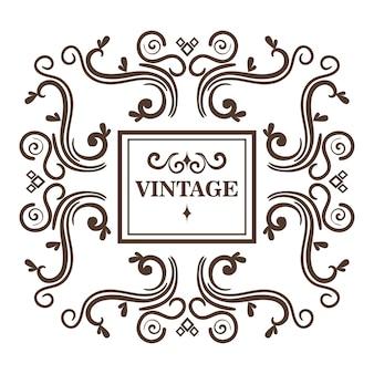 Ozdobne ramki i vintage podpisać na białym tle. ilustracji wektorowych.