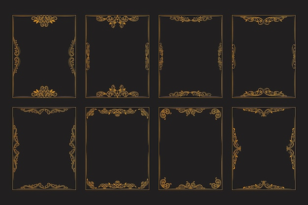 Ozdobne ramki kaligraficzne