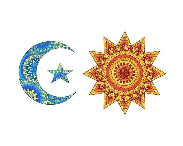 Ozdobne słońce i księżyc