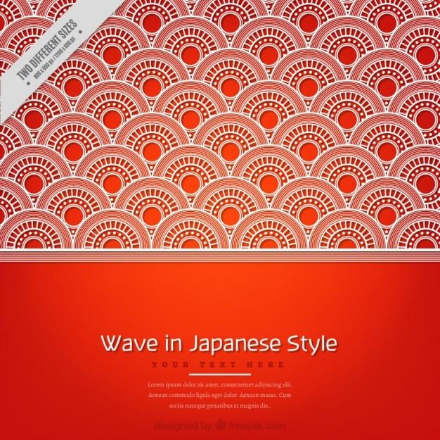 Ozdobne tle koła w stylu japońskim