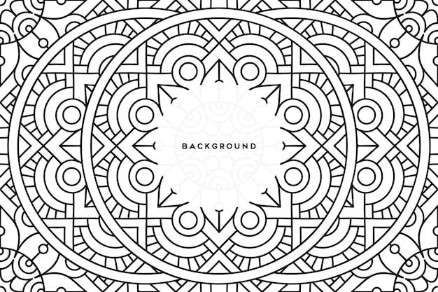 Ozdobne tło z geometrycznym okrągłym wzorem