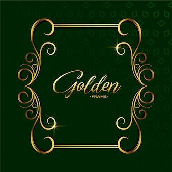 Ozdobne złote dekoracje kwiatowy luksus ramki tła
