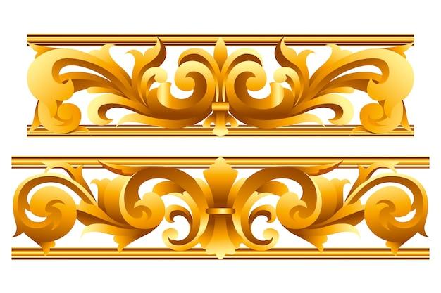 Ozdobne złote obramowanie