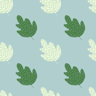Ozdobny dąb wzór na białym tle. tło liści.