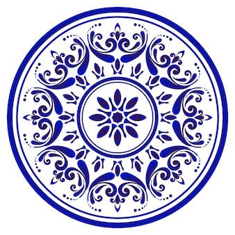 Ozdobny kwiatowy okrągły mandali