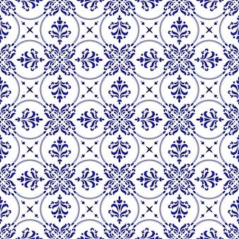 Ozdobny kwiatowy wzór adamaszku
