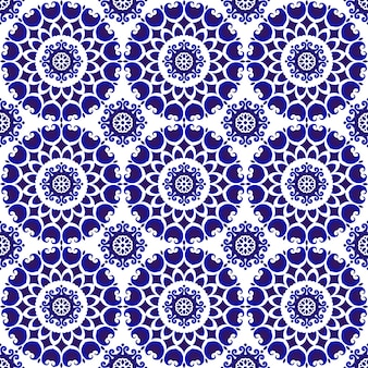 Ozdobny niebieski wzór